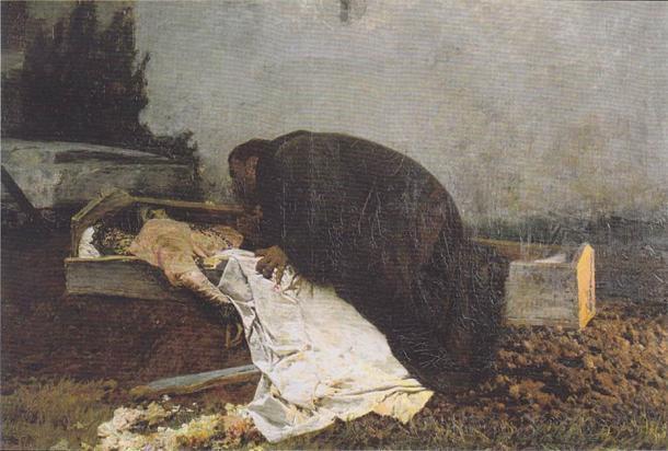 El oscuro deseo de fornicación en los cementerios se ha mantenido popular hasta hoy. (Dominio público)