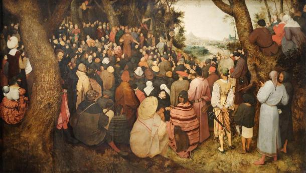 Juan el Bautista predicando a la gente. (Pieter Bruegel el Viejo (1566) / Dominio público)