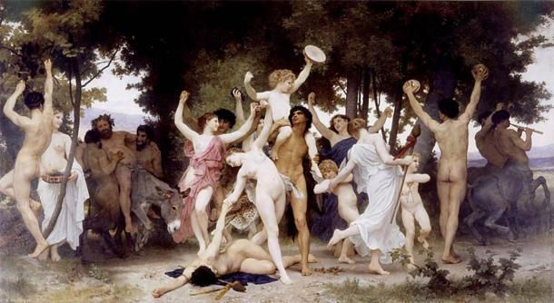 'La jeunesse de Bacchus' (La juventud de Baco) de William-Adolphe Bouguereau. (CC BY 2.0)