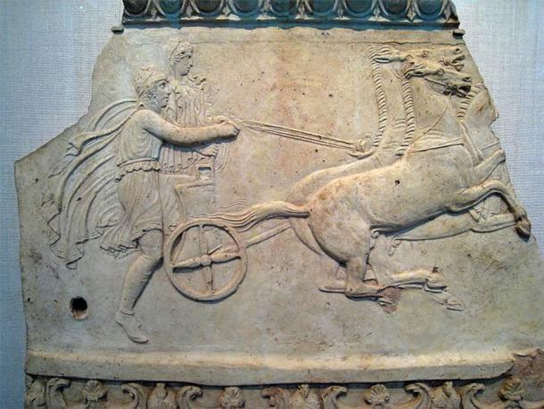 Solo los miembros ricos de la élite griega podían permitirse competir en las carreras de carros griegos antiguos. (Dominio público)