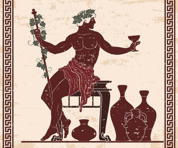 En los frescos y mosaicos, Dionisio se presenta con frecuencia llevando o sosteniendo un racimo de uvas. (migfoto / Adobe Stock)