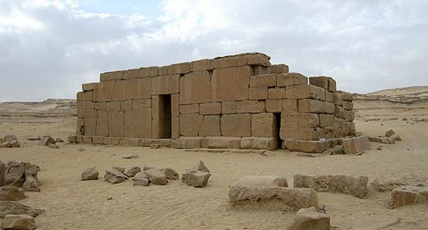 El templo megalítico de Qasr el Sagha en el Oasis de Faiyum. Crédito: Acuerdo Wiki Commons, 2020
