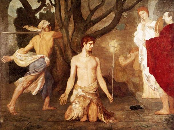 La decapitación de Juan el Bautista. (Pierre Puvis de Chavannes / Dominio público)