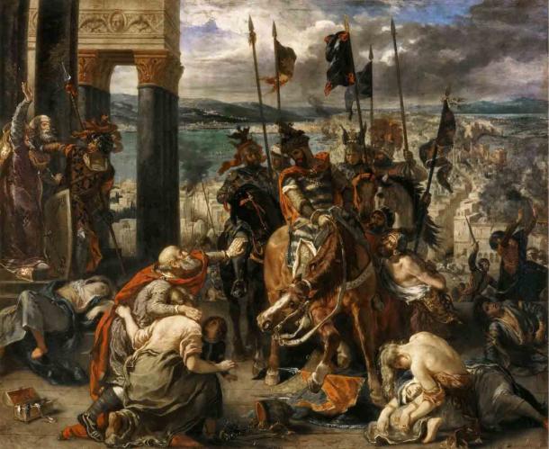 Los cruzados entraron en Constantinopla después de que cayera ante los latinos en 1204 d.C. (Eugène Delacroix / Dominio público)