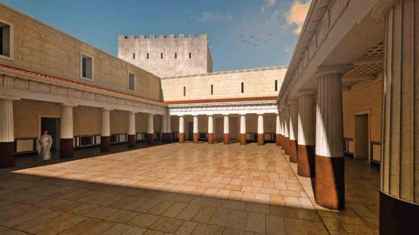 Reconstrucción de la pista de baile donde se dice que Salomé exigió la cabeza de Juan Bautista a su padrastro. (Győző Vörös)