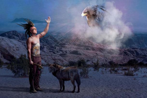 Indio nativo americano orando por los antepasados muertos. (Cisek Ciesielski / Adobe)