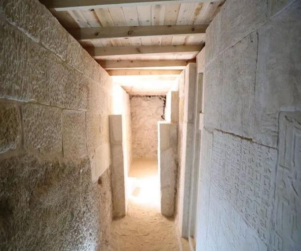 Inscripciones encontradas en las paredes de una de las tumbas de la meseta de Giza. (Ministerio de Antigüedades)