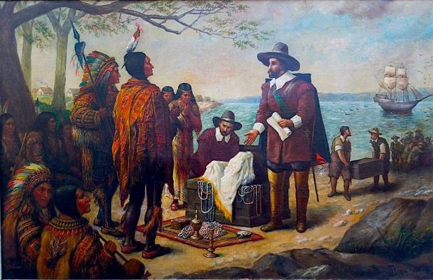 Los iroqueses se dedican al comercio con europeos. (Sporti / Dominio público)
