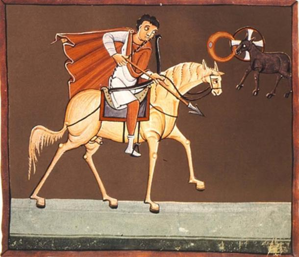 El primer jinete, el Jinete Blanco, de los Cuatro Jinetes del Apocalipsis. (Batchheizer / Public Domain)