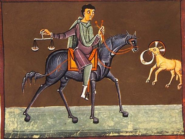 El tercer jinete, el Jinete Negro, de los Cuatro Jinetes del Apocalipsis. (Batchheizer / Dominio Publico)