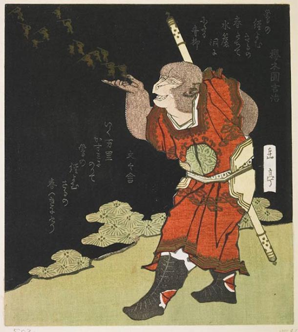 El Emperador de Jade está incluido en el siglo XVI de la literatura Viaje al Oeste, donde se cruza con Sun Wukong, el Rey Mono, visto aquí. (Dominio público)