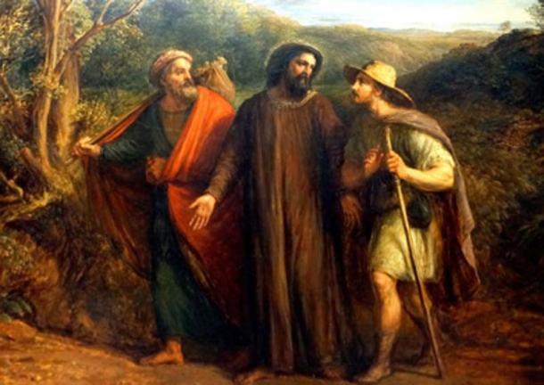 Jesús se encuentra con dos discípulos en el camino a Emaús. (Neil Alexander McKee / CC BY-SA 2.0)
