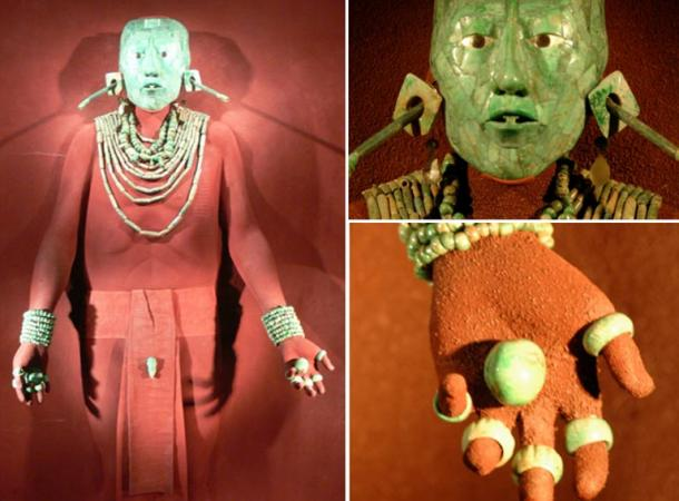 Los adornos de jade del Señor Pakal (imágenes de dominio público)