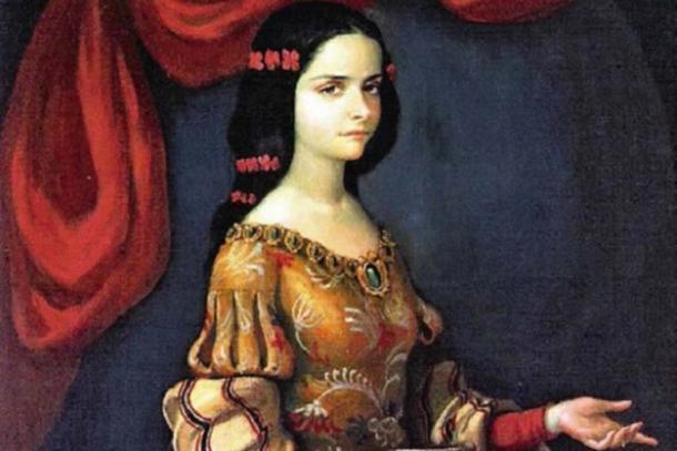 Juana Ines, de joven, fue invitada a unirse a la corte vice-real. (HombreDHojalata / Dominio Público)