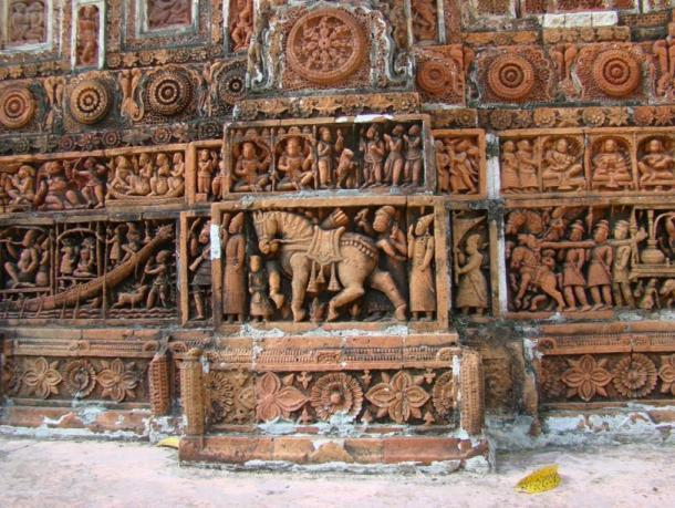 El Templo Kantaji en Bangladesh, un templo hindú tardío que sin duda desempeñó un papel en el ascenso de los antiguos bengalíes indios como una fuerza primaria en el budismo, que es una rama del hinduismo. (Shahnoor Habib Munmun / CC BY 3.0)