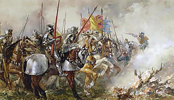El rey Enrique V en la batalla de Agincourt. (Mathiasrex / Dominio público)