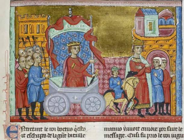 El rey Jugurta desfilaba por Roma como prisionero como parte del triunfo romano de Cayo Mario. (Dominio público)