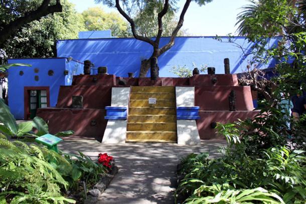 La casa azul donde vivió Frida y Diego. Actualmente es un museo. (CC BY 3.0)