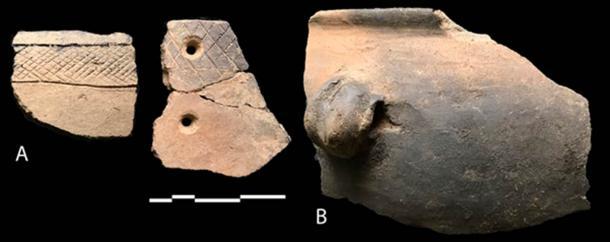 La cerámica es el Tupperware del pasado: es duradera y ubicua en los sitios arqueológicos. Pero no siempre hay un vínculo entre los estilos y las identidades ancestrales. Comparamos los entierros asociados con dos tradiciones de artefactos distintivos, Savanna Pastoral Neolítico (A) y Elmenteitan (B), y no encontramos diferencias genéticas. Steven Goldstein en el Museo Nacional de Kenia, CC BY-NC-ND