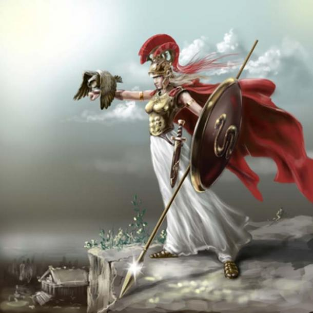 La diosa Atenea, deidad de la Acrópolis de Atenas. (Геннадий Кучин/ Adobe Stock)