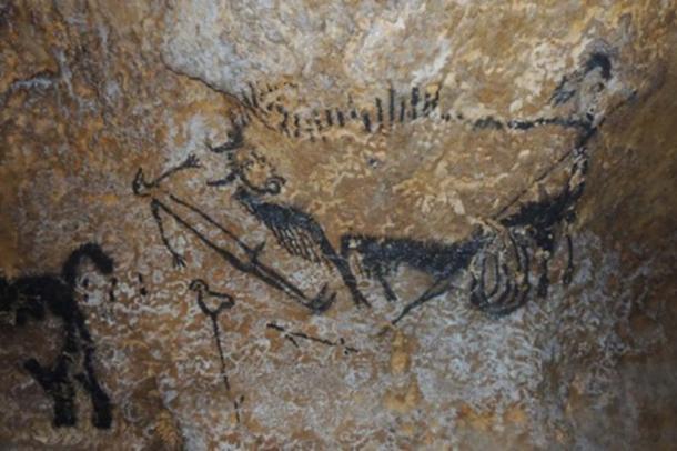 La escena del eje de Lascaux. (Imagen cortesía de Alistair Coombs, autor suministrada)