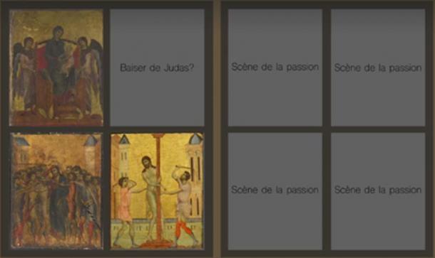 La pintura es uno de los números que formaron un díptico. (Eric Turquin / Captura de pantalla de YouTube)