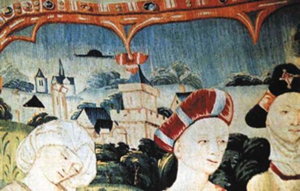 La vida de la Virgen María, tapiz medieval de Tournai, Bélgica. (Notre Dame Basílica Beaune / Dominio público)