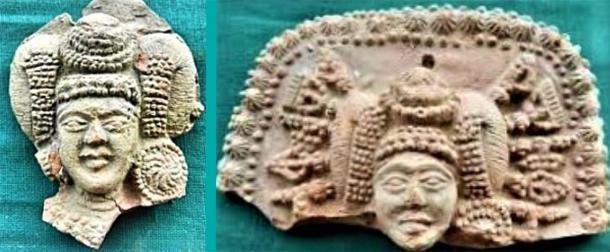 """Ejemplos de artefactos """"Damas con armas como horquillas"""" / Diosa india. (Proporcionado por el autor)"""