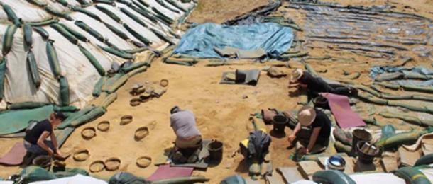 Las excavaciones en Le Rozel han encontrado lo que las investigaciones creen que son huellas de neandertales. (Foto: Dominique Cliquet / Haaretz)