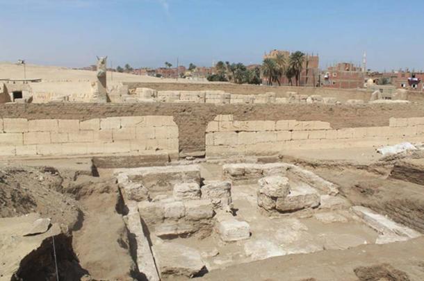 Las ruinas del palacio recién descubierto pertenecientes a Ramsés el Grande. Crédito: Ministerio de Antigüedades de Egipto.