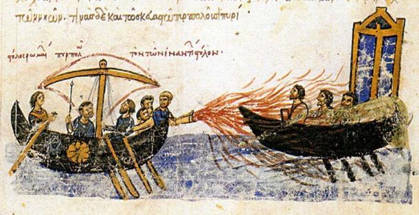 Las tropas bizantinas utilizaron un nuevo sistema de defensa, el fuego griego, junto con una exitosa guerra defensiva para sobrevivir al ataque. (Amandajm / Dominio Público)