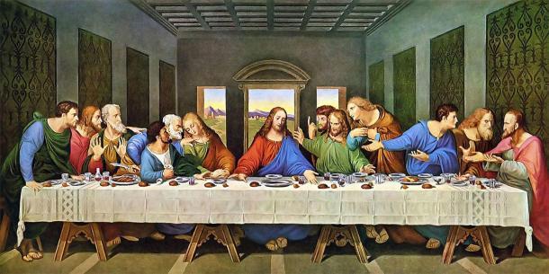 La pintura de la Última Cena (restaurada). (Leonardo da Vinci / Dominio público)
