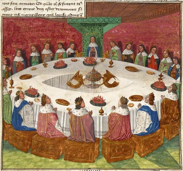 Leyenda artúrica - Caballeros de la Mesa Redonda de un manuscrito medieval. (Michael Hurst / Dominio público)
