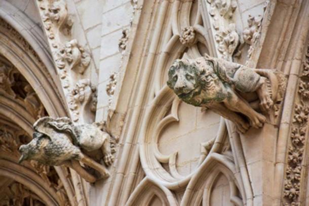 Gárgola del león en la catedral de Saint-Jean, Lyon, Francia. (HJBC / Adobe Stock)