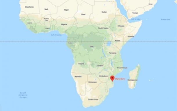 Ubicación de Manyikeni, Mozambique (Google Maps)