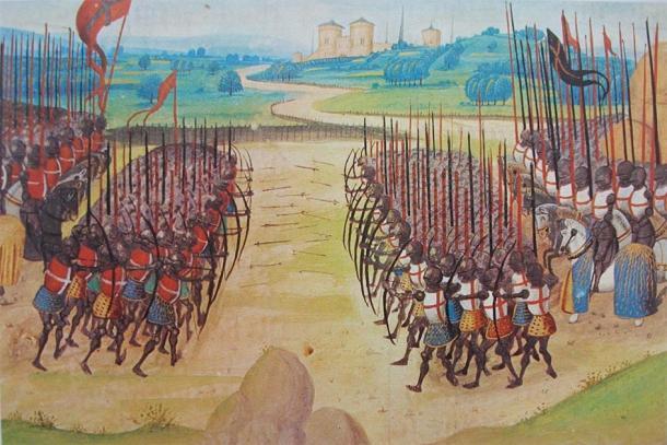Longbowmen en la batalla de Agincourt. (El verdadero dominio marciano /Dominio público)