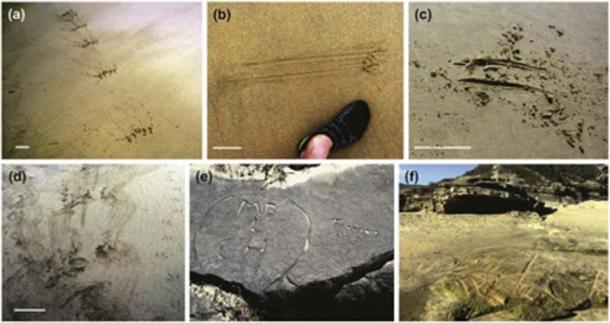 Los expertos necesitan estudiar los hallazgos y diferenciar los patrones antiguos del graffiti moderno. (Science Direct)