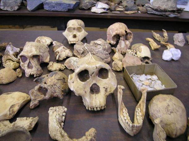 Los fósiles homínidos en Sudáfrica. (CC BY SA 3.0)