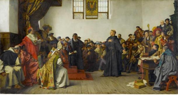Lutero en la dieta de los gusanos. (Jfhutson / Dominio público)