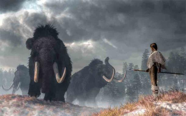 ¿Podría el análisis del mamut de Mount Holly significar que los humanos y los mamuts lanudos coexistieron en el noreste de los Estados Unidos? (Daniel / Adobe Stock)