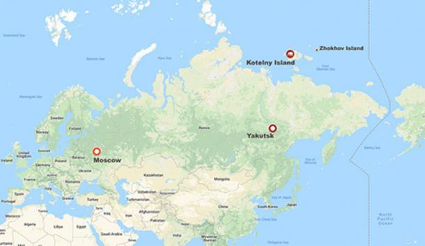 Los paleontólogos hicieron el descubrimiento excepcionalmente raro en la isla Kotelny, parte del nuevo archipiélago siberiano. Imágenes: Los tiempos de Siberia, Innokenty Pavlov