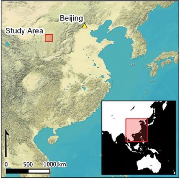 Mapa del área de estudio en relación con Beijing, China. (Antiquity Publications Ltd)