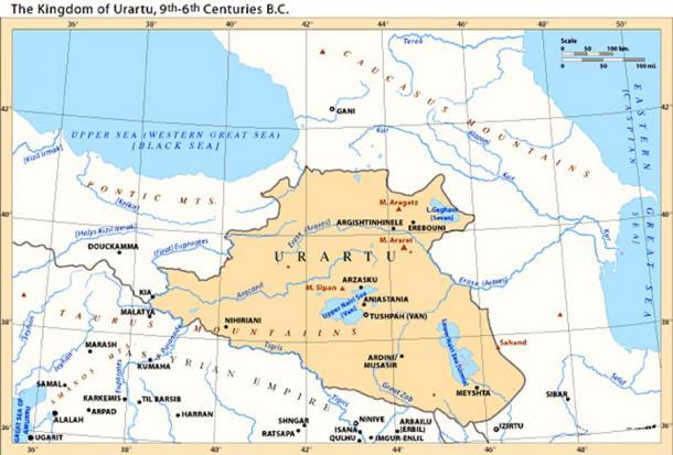 El Reino de Urartu, siglos IX-VI a. C. (Citypeek / CC BY-SA 3.0)