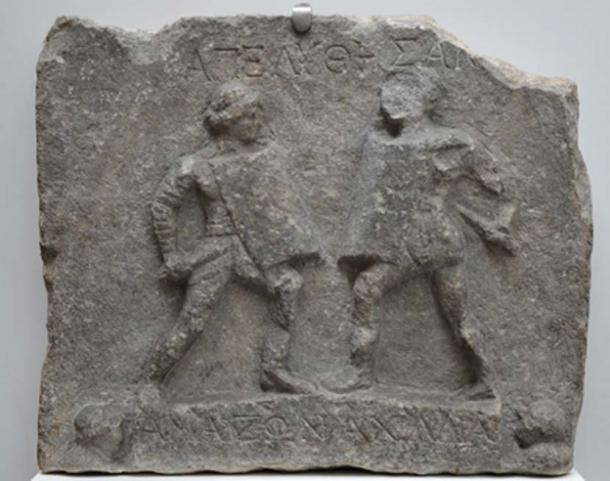 Relieve en mármol que muestra a los gladiadores del Amazonas. (Carole Raddato / CC BY-SA 2.0)
