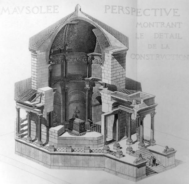 Ilustración del mausoleo en el Palacio de Diocleciano