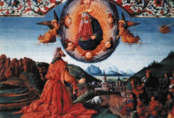 Tapiz medieval - La contemplación de Santa Geremia. (Hurley / Dominio público)