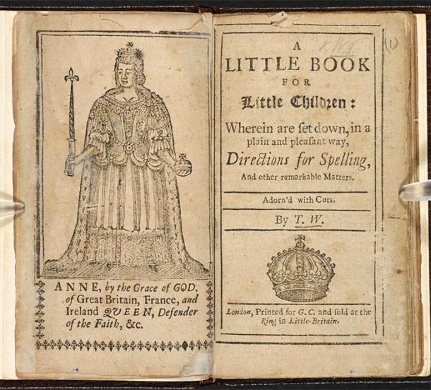 """Libro de niños medieval, titulado """"Little Book de Little Children"""" publicado en 1702. (Biblioteca Británica / Dominio Público)"""