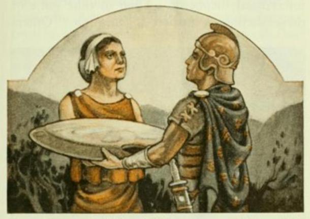 A los hombres, mujeres y niños en Esparta se les enseñó que su primer deber era con su estado. La mujer espartana pensó que el mayor honor era que sus hijos o esposo murieran luchando por su estado. (esta imagen ha sido recortada) (Patrick Gray / CC BY 2.0)