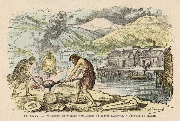Metalistería de la Edad de Bronce, alrededor del año 2.000 a. C. Fuente: Archivist/ Adobe Stock.