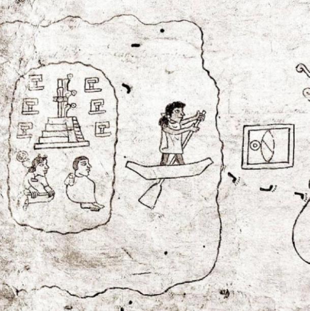 Los mexicas parten de Aztlán. Desde el siglo 16 Codex Boturini. Creado por un artista azteca desconocido en el siglo XVI. (Dominio publico)